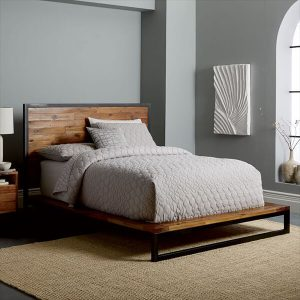 Logan Industrial Platform Bed