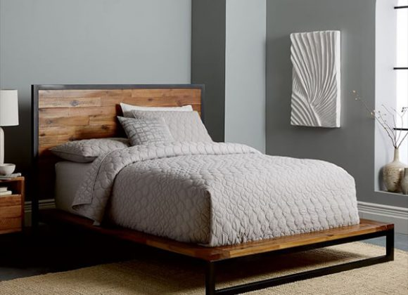 Logan Industrial Platform Bed
