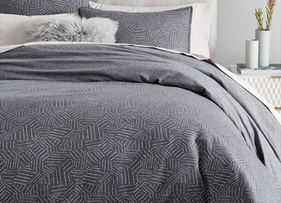 Flanel Tossed Lines Duvet Cover