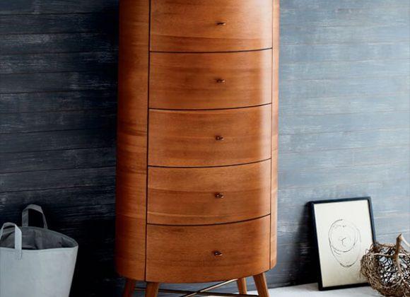 Wood 3-Drawer Dresser