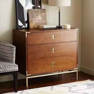 Malone Campaign 3-Drawer Dresser